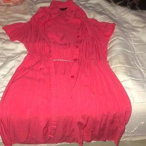 G by guess cold shoulder shirt dress